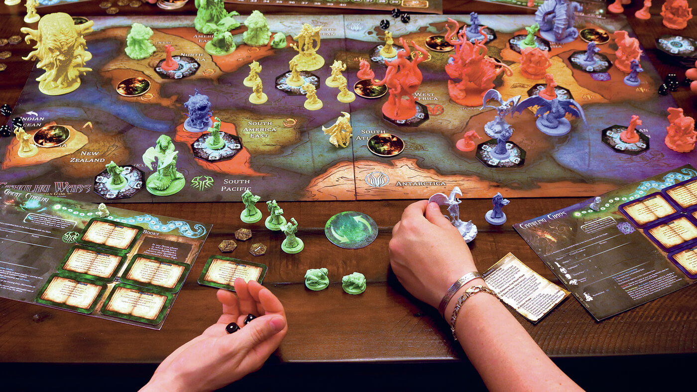 Have fun with your kids using this multicolored eldritch board game!