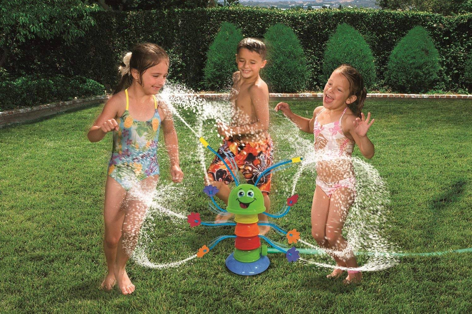 The sprinkler is an easy and fun form of entertainment