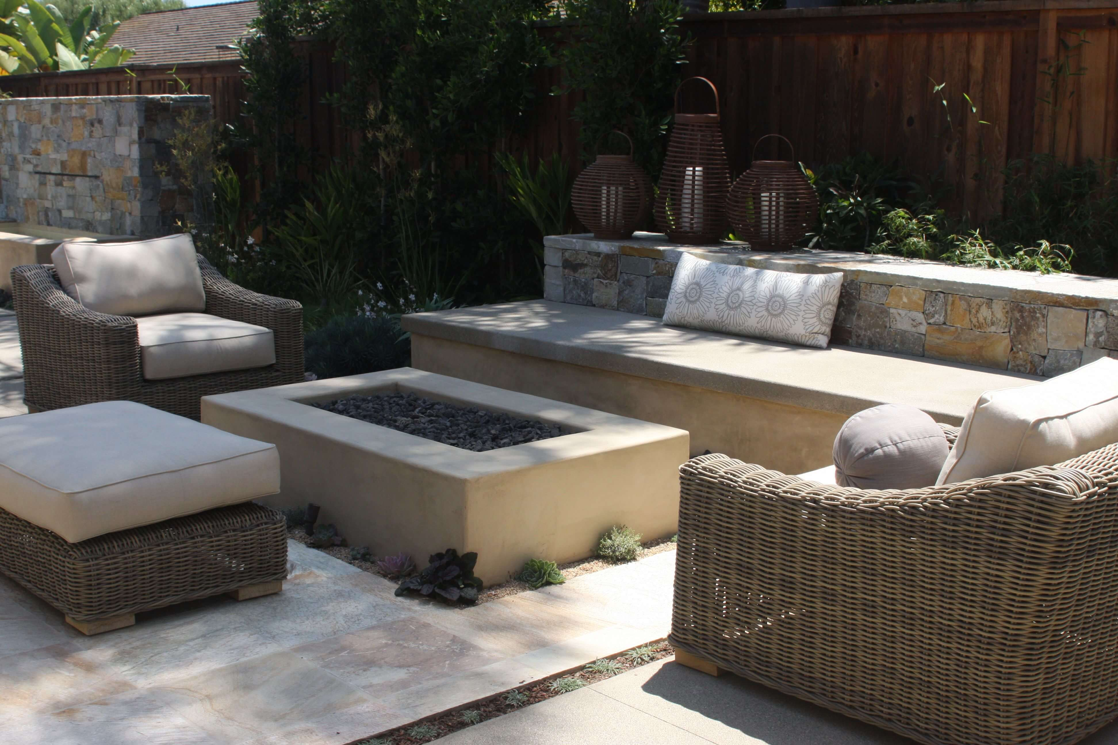 Last but not least, hardscape furniture is always viable