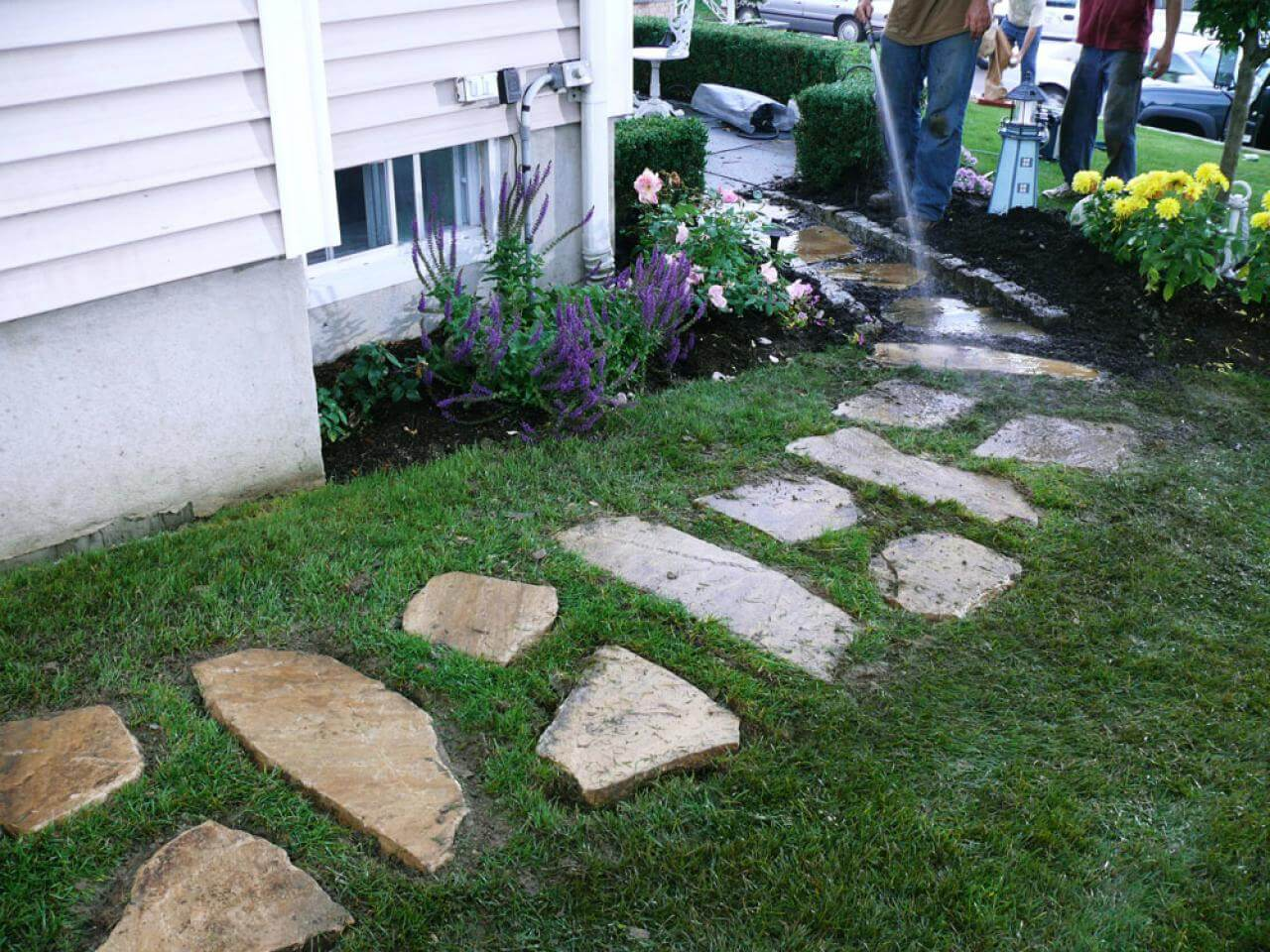 A walkway can add a lot of value to a backyard