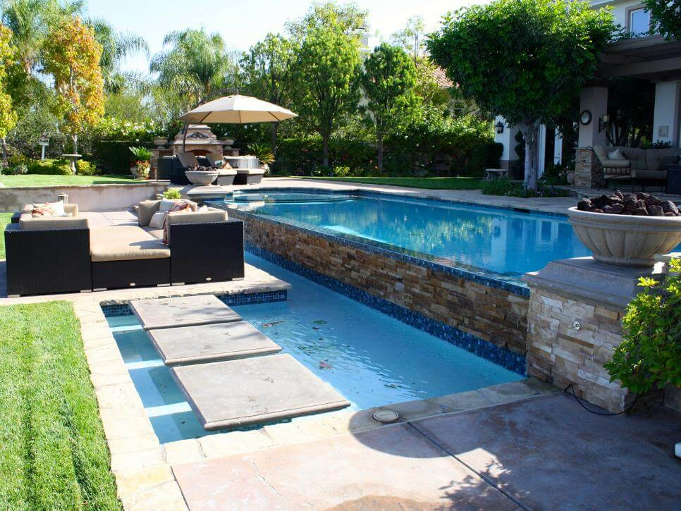 Poolside hardscape is one of the coolest features you can add to your home