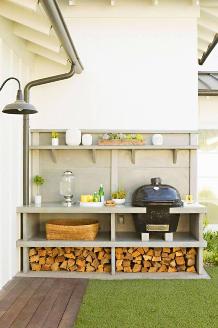 If you have an outdoor kitchen, give that some attention as well.