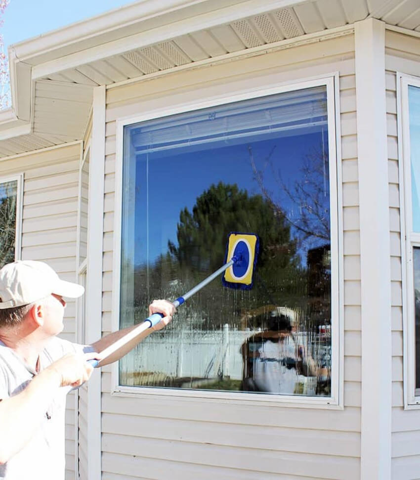 Summer is the perfect time to wash your windows.