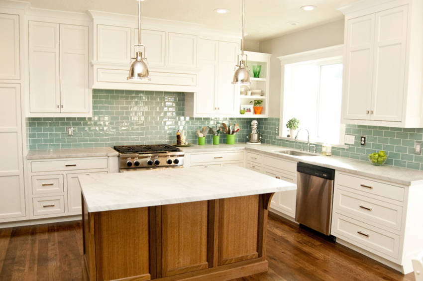 Back-splash is an easy way to renew your kitchen!