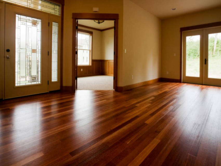 Floor refinishing is a great project to start during the summer!