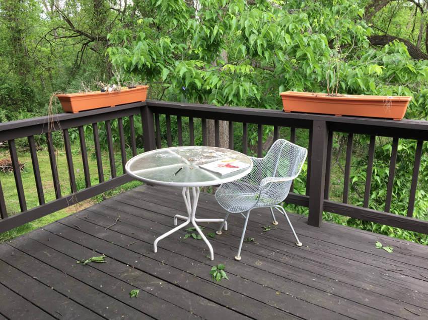 Summer deck before.
