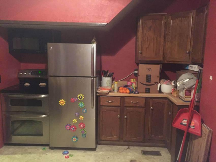 Kitchen before.