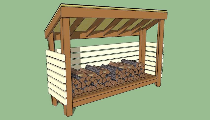 Exterior Home Features of a firewood shed vary.