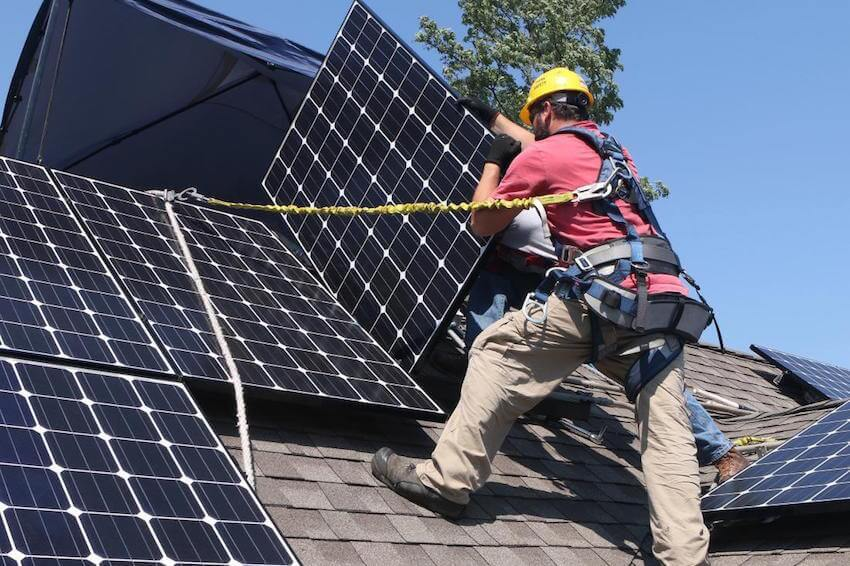Put solar panels on your roof to lower bills