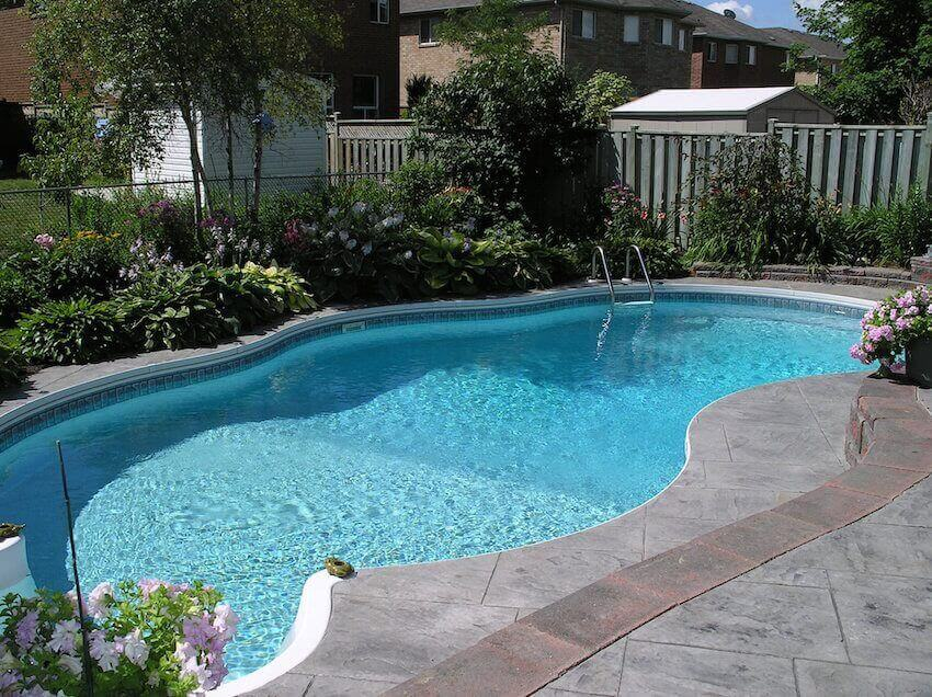 In-ground swimming pool installation