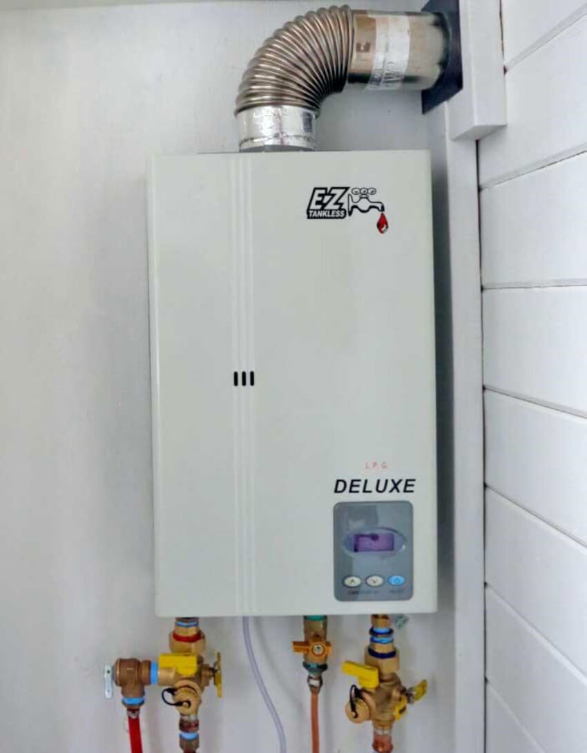 A tankless water heater is expected to last about 20 years.