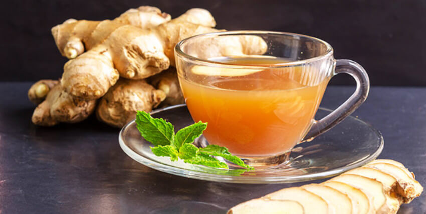 Ginger tea is amazing for women with strong menstrual pains!