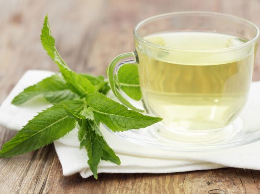 Peppermint tea can help with digestion issues!