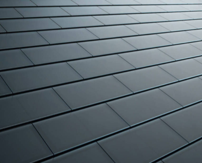 One of the tile types from Tesla's solar roof.