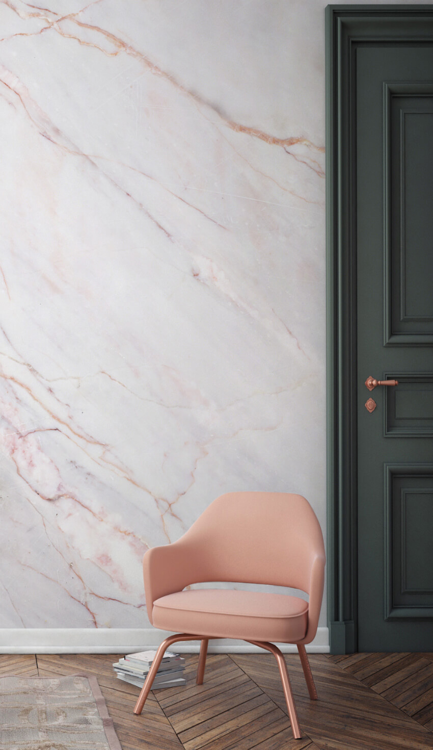 Marble is always a hit, in any environment.