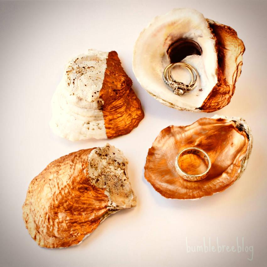 DIY copper decorative shells