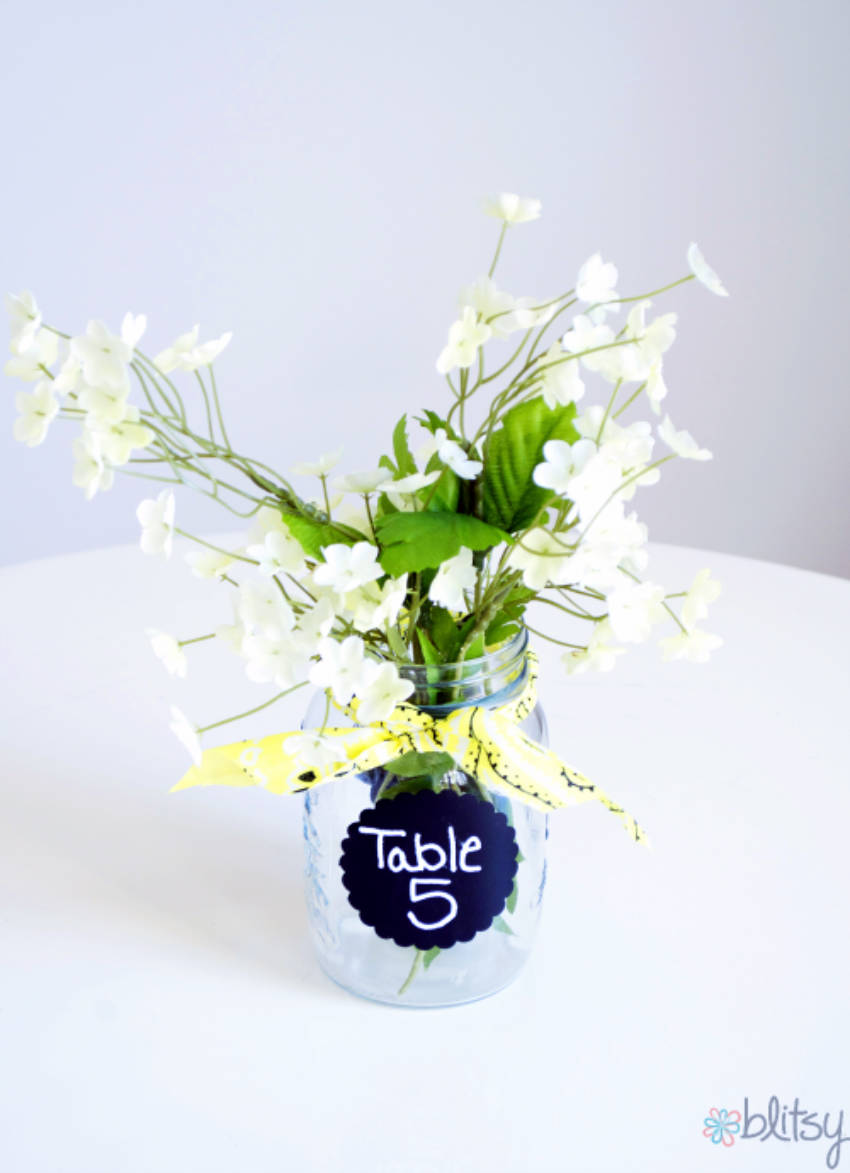 DIY beach wedding table number for convenience!