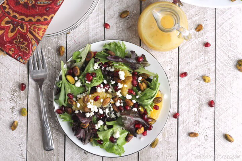 Christmas Salad With Citrus Champagne Christmas Dinner Full Menu Guide
