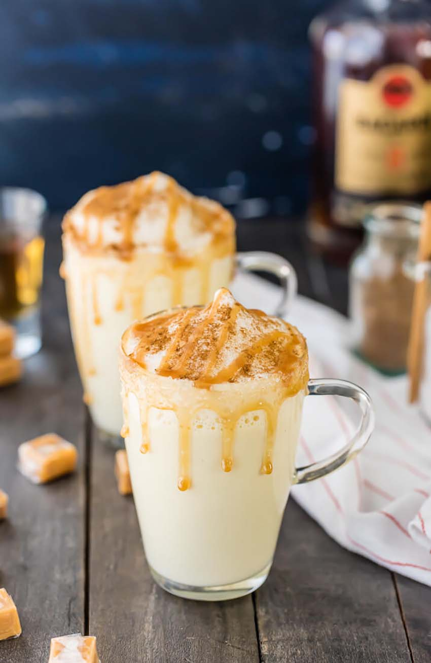 Homemade Salted Caramel Eggnog - Full Guide to Christmas Eve Dinner