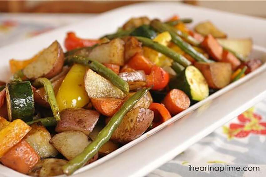 Roasted Winter Vegetables - Christmas Eve Dinner Full Menu Guide