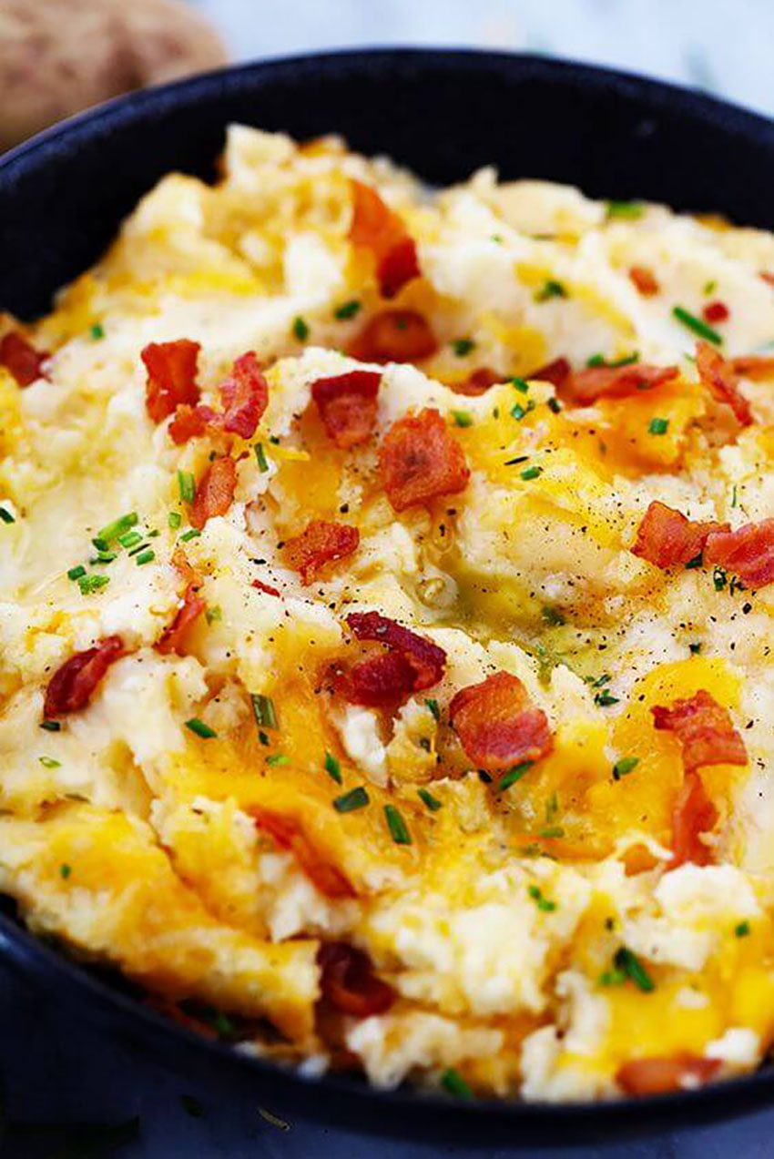 Cheddar Garlic Mashed Potato Casserole Thanksgiving