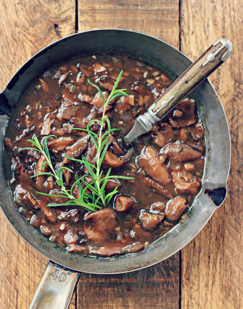 Vegan Wild Mushroom Gravy Thanksgiving