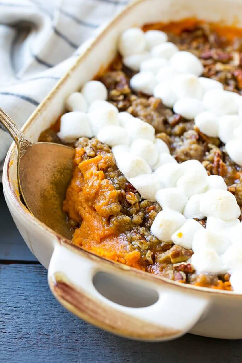 Sweet Potato Casserole with Marshmallows