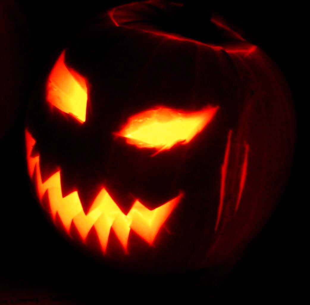 "The spooky jack-o'-lantern says, ""Safety fiiiirst..."""