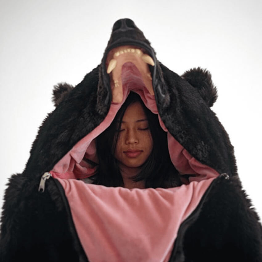 If you've ever wanted to be a bear, this is your chance! Get this bear sleeping bag and take your naps in peace