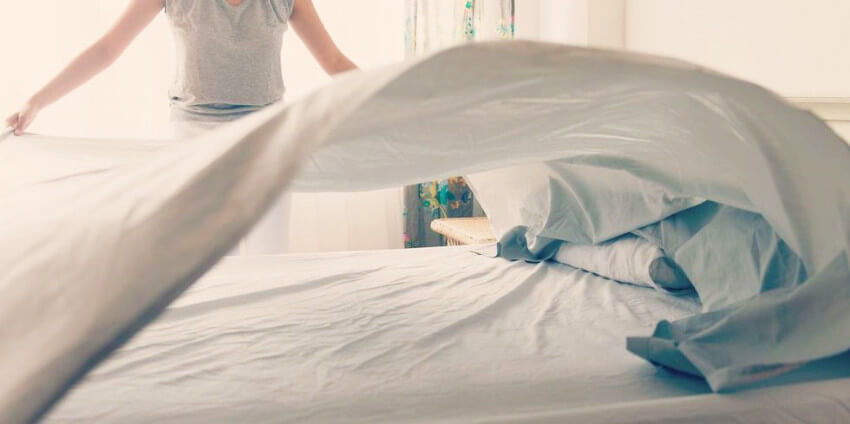 Making your bed also improves your performance during the day!