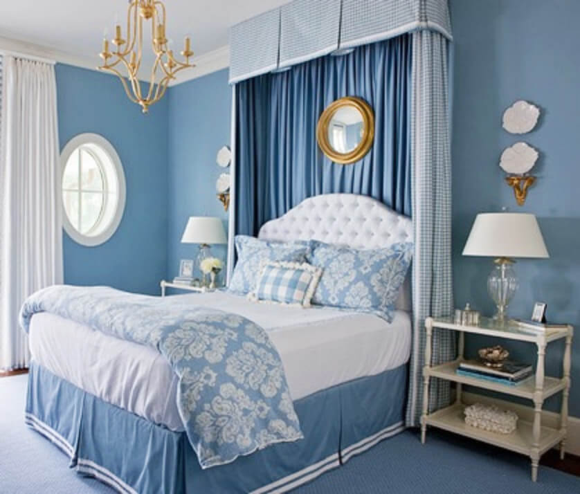 Blue is a color that brings peace and relaxation!