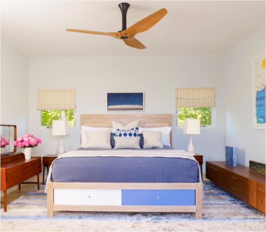 A ceiling fan makes the room look complete!