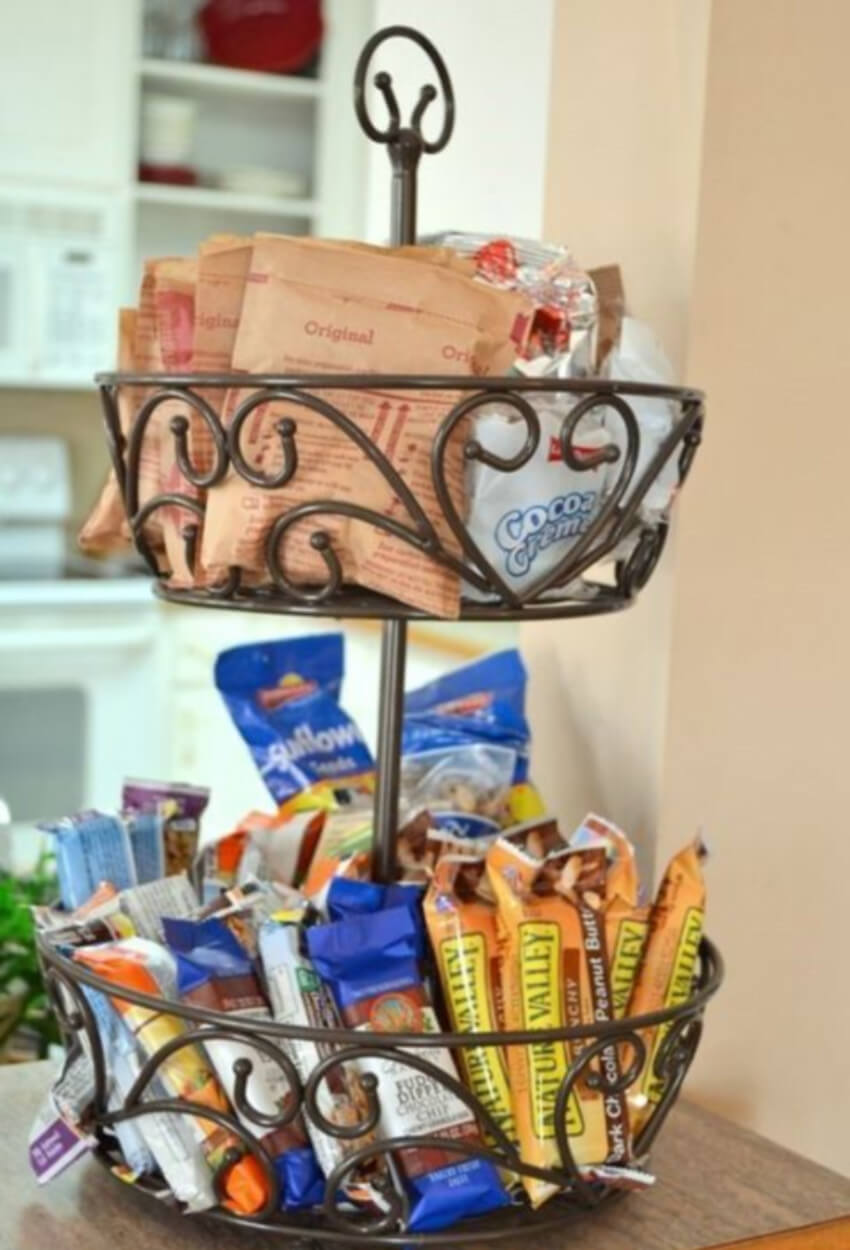 Stacking snacks sounds silly, but it makes a difference.