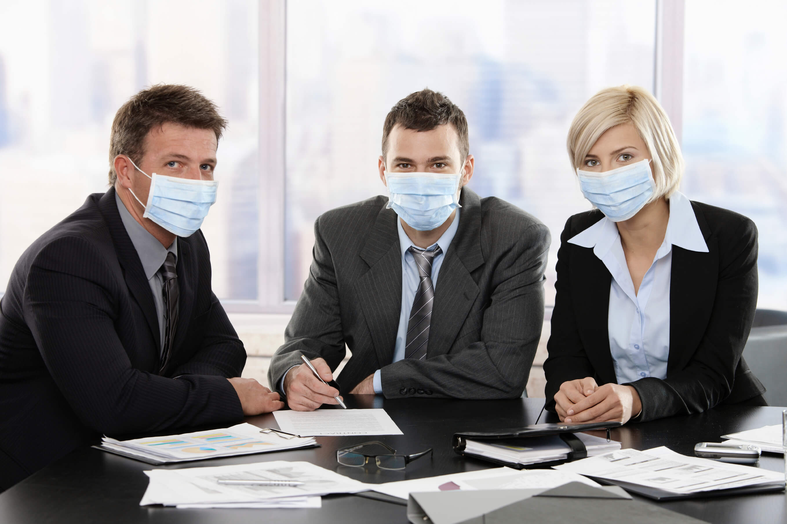 Prevent spreading germs around in the office