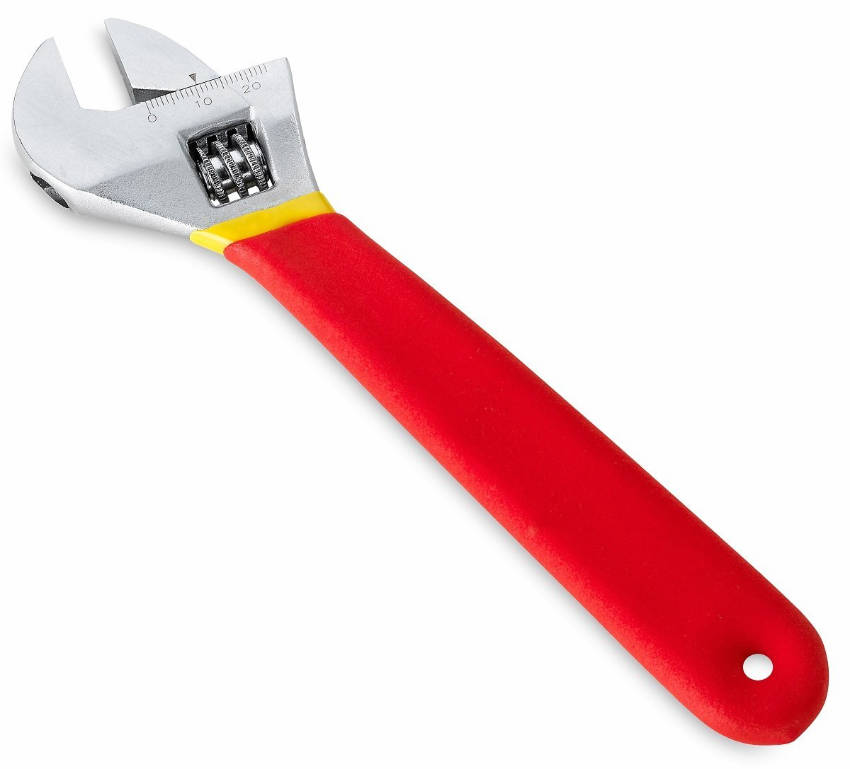 An adjustable wrench and pliers set for your home.