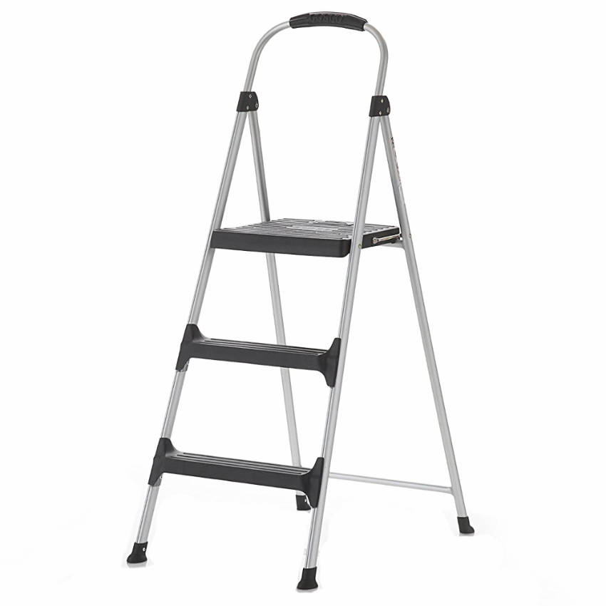 A step stool is safe and easy to store.