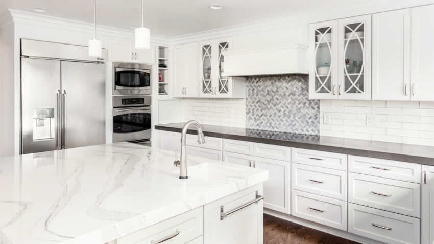 Quartz can imitate granite and it has its own pros.