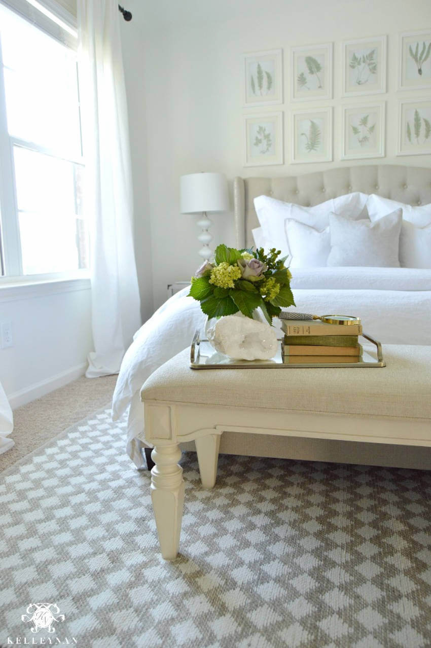 Keep it neutral and simple using a patterned rug.