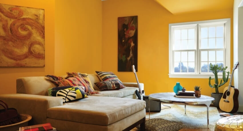 Yellow is the color to bring cheerful, creative, and cozy vibes into your home!