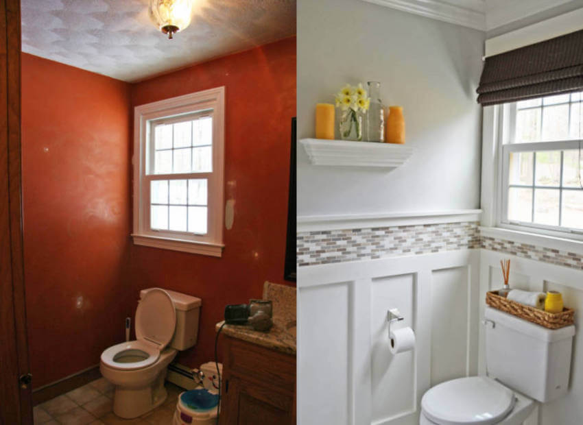 Bright colors made this bathroom way more beautiful