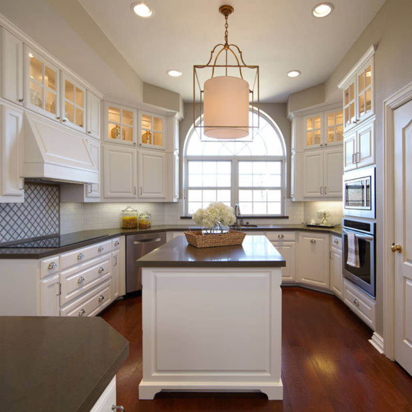 Painting brought a modern look to those dated cabinets.