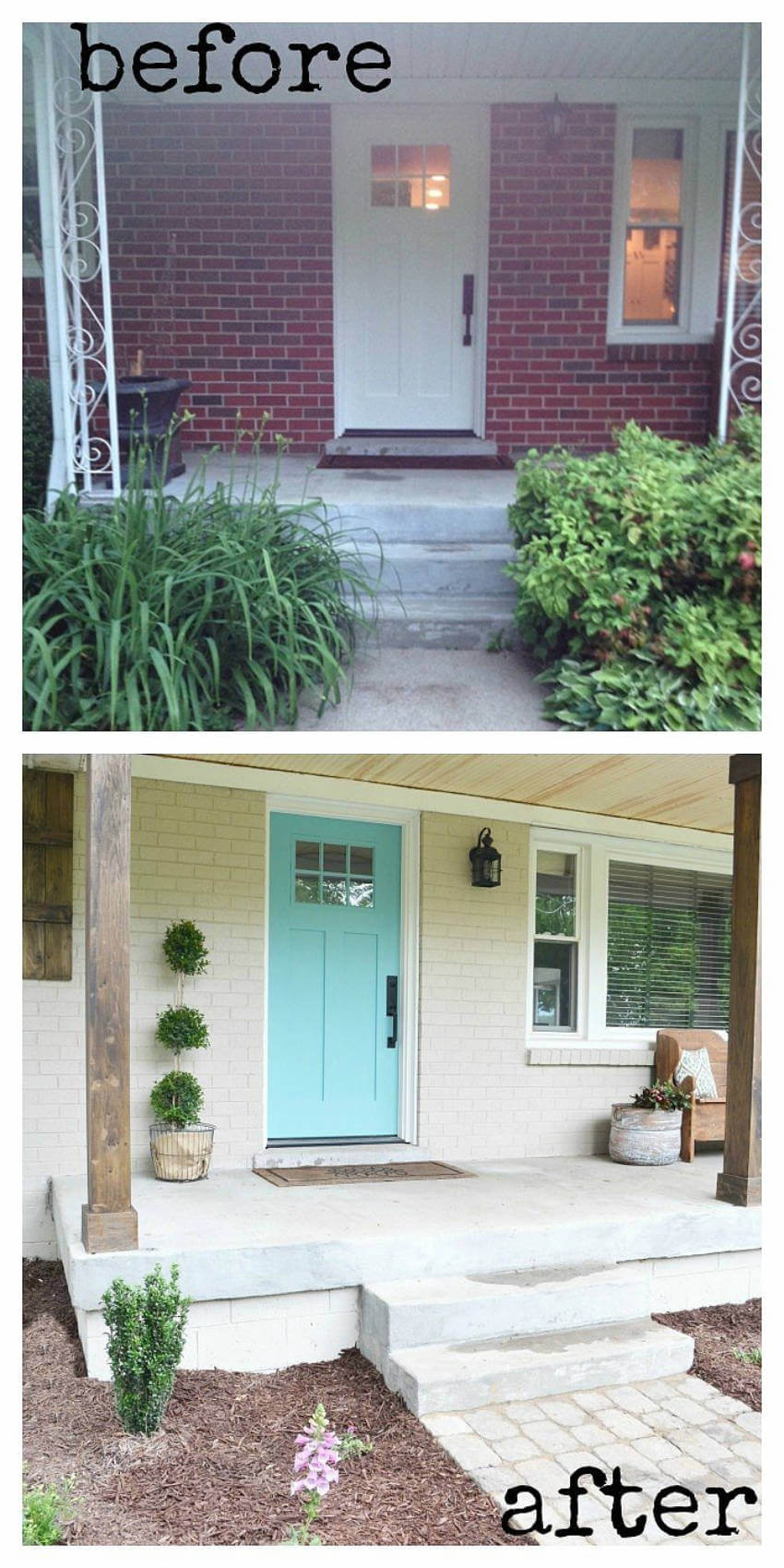 A colorful front door can make any house more joyful