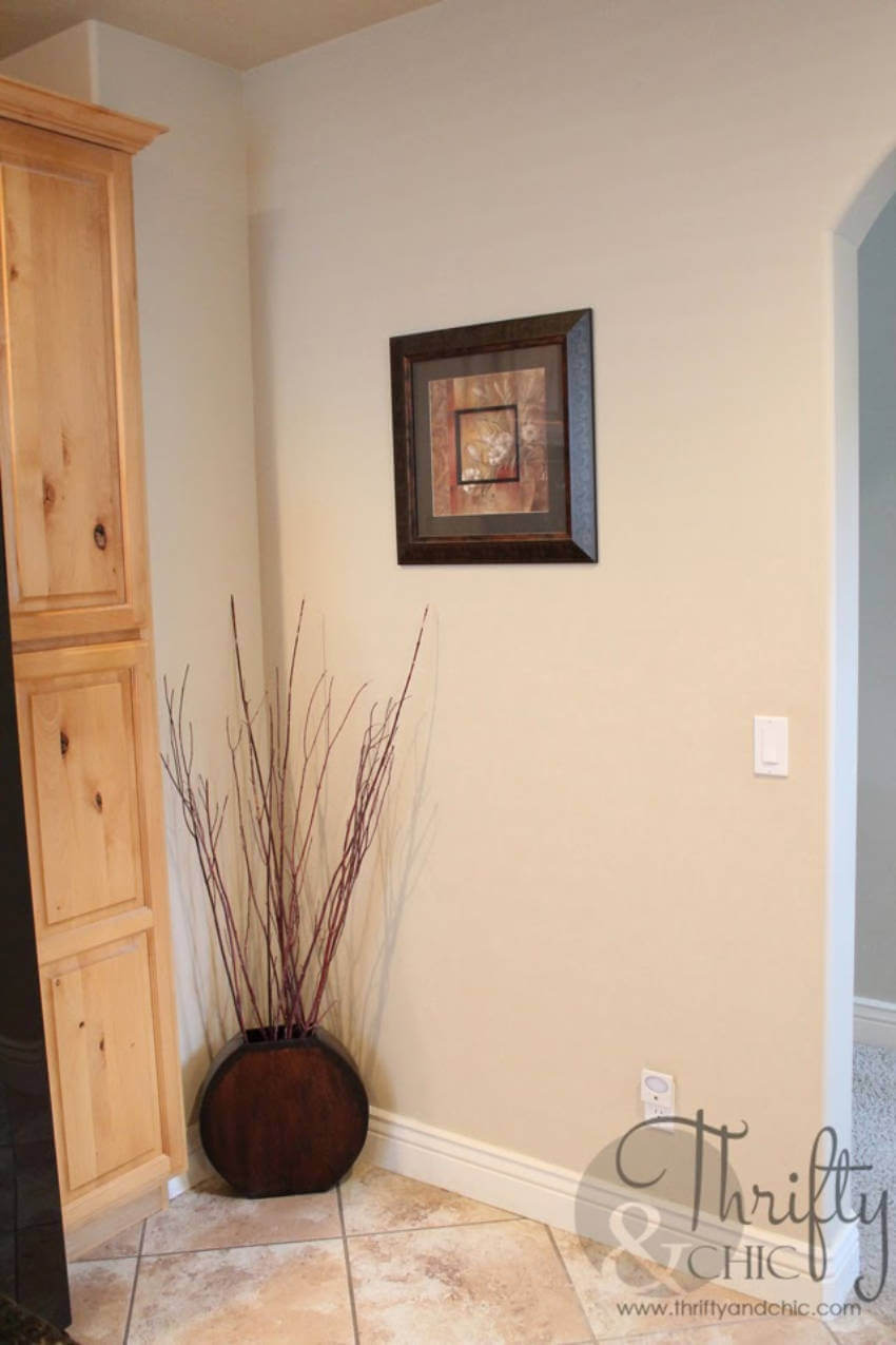 This accent wall was in dire need of a revamp.