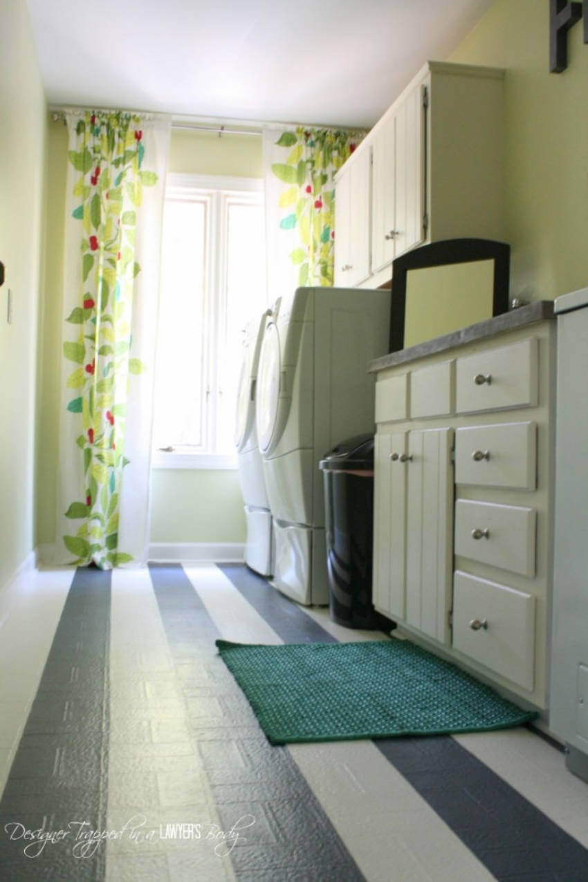 This laundry room is looking super joyful and stylish now!