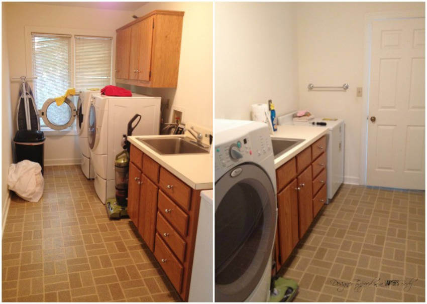 Another laundry room that does not inspire.