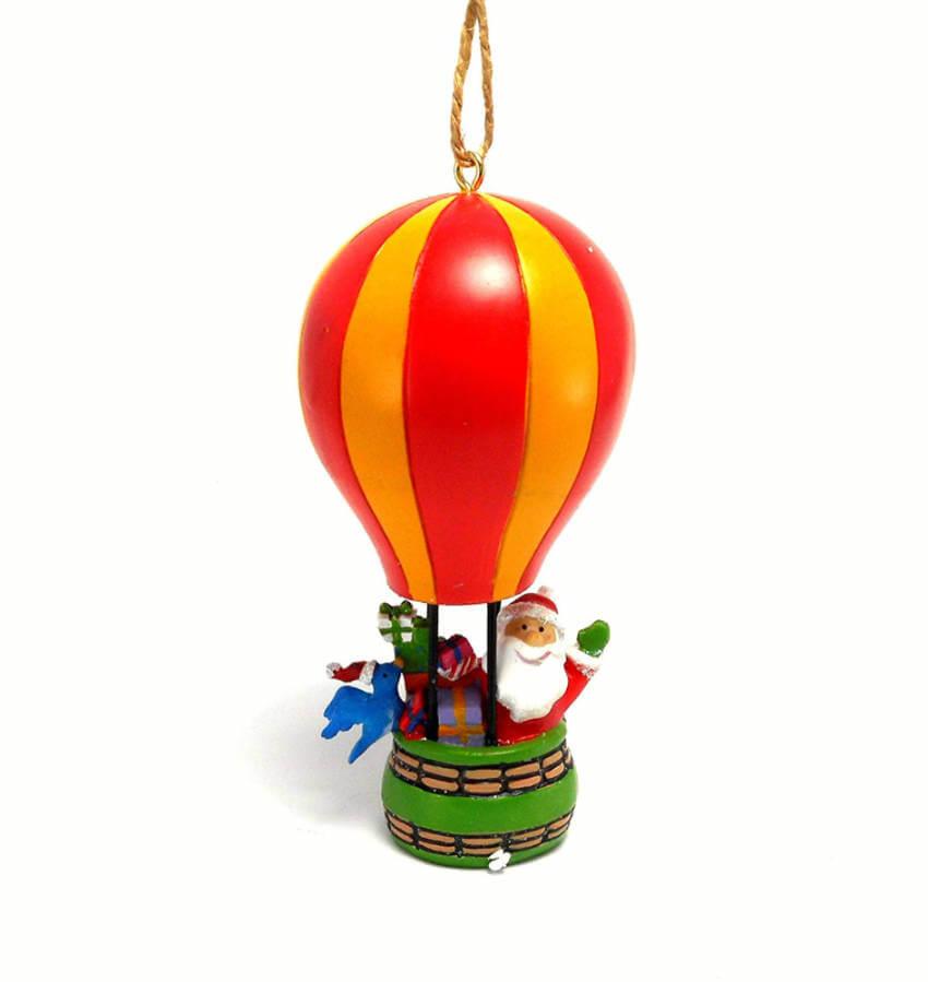 Santa balloon ornament.