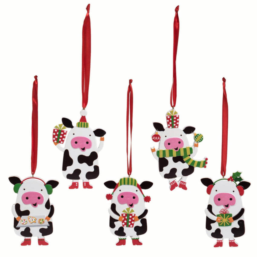 Cow ornaments.