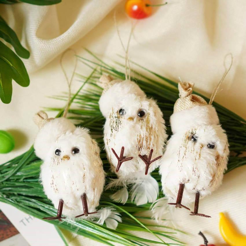 Mini owl ornaments.