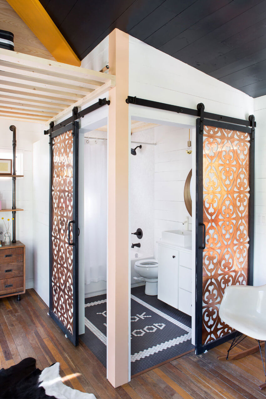 The trend also works for bathrooms
