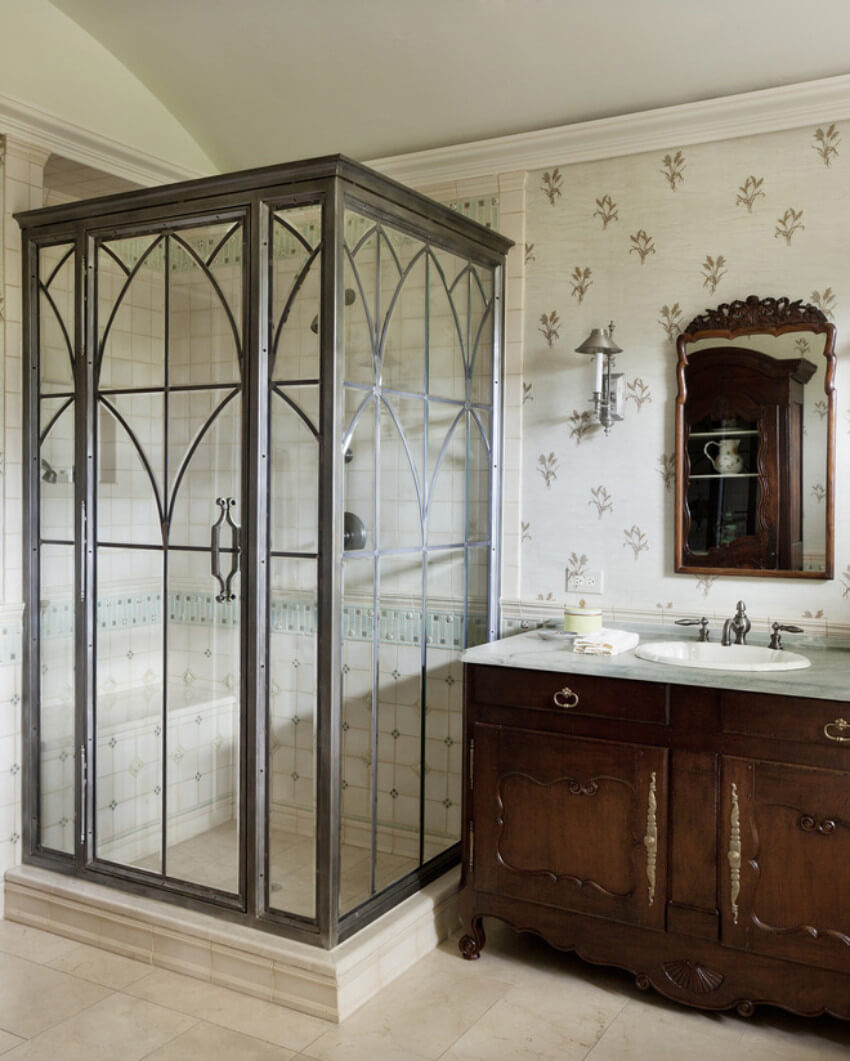 The traditional look can be incorporated in any bathroom.